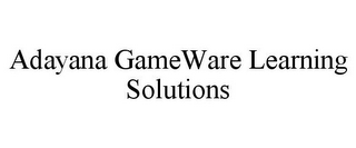 mark for ADAYANA GAMEWARE LEARNING SOLUTIONS, trademark #77980452