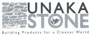mark for UNAKA STONE BUILDING PRODUCTS FOR A CLEANER WORLD, trademark #77981087
