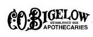 mark for C.O. BIGELOW ESTABLISHED 1838 APOTHECARIES, trademark #77982821