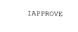 mark for IAPPROVE, trademark #78003548
