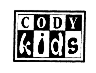 mark for CODY KIDS, trademark #78032561