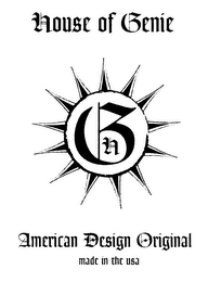 mark for HOUSE OF GENIE AMERICAN DESIGN ORIGINAL MADE IN THE USA, trademark #78046471