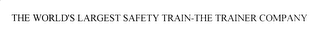 mark for THE WORLD'S LARGEST SAFETY TRAIN-THE-TRAINER COMPANY, trademark #78055894