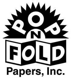 mark for POP N FOLD PAPERS, INC., trademark #78070318