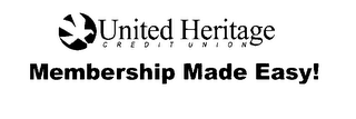 mark for UNITED HERITAGE CREDIT UNION MEMBERSHIP MADE EASY!, trademark #78089066