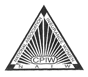 mark for NATIONAL ASSOCIATION OF INSURANCE WOMEN CPIW NAIW, trademark #78096954