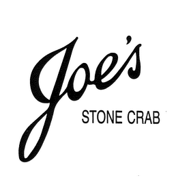 mark for JOE'S STONE CRAB, trademark #78105899
