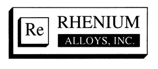 mark for RE RHENIUM ALLOYS, INC., trademark #78115678