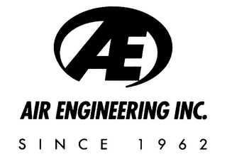 mark for AE AIR ENGINEERING INC. SINCE 1962, trademark #78117881