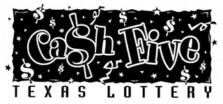 mark for CASH FIVE TEXAS LOTTERY, trademark #78123795