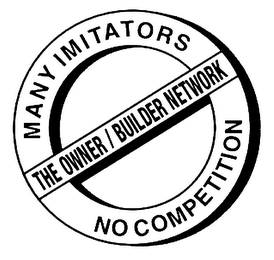 mark for THE OWNER/BUILDER NETWORK MANY IMITATORS NO COMPETITION, trademark #78125536