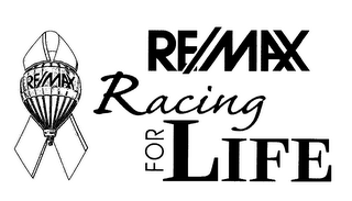 mark for RE/MAX RACING FOR LIFE, trademark #78137804