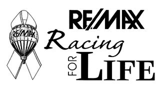 mark for RE/MAX RACING FOR LIFE, trademark #78137810