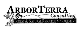mark for ARBORTERRA CONSULTING FOREST & NATURAL RESOURCE MANAGEMENT, trademark #78160608