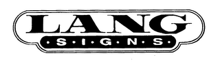 mark for LANG SIGNS, trademark #78163547