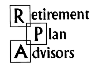 mark for RETIREMENT PLAN ADVSIORS, trademark #78177091