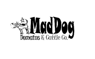 mark for MAD DOG DOMAINS & CATTLE CO., trademark #78178168