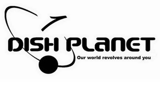 mark for DISH PLANET OUR WORLD REVOLVES AROUND YOU, trademark #78185704