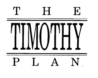 mark for THE TIMOTHY PLAN, trademark #78186900