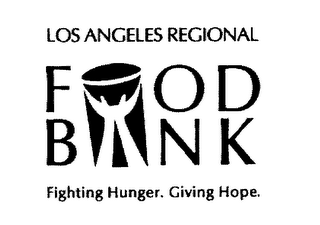 mark for LOS ANGELES REGIONAL FOOD BANK FIGHTING HUNGER. GIVING HOPE., trademark #78191418