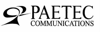 mark for PAETEC COMMUNICATIONS, trademark #78229720