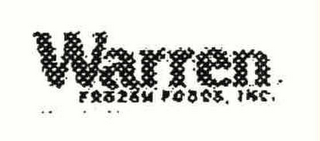 mark for WARREN FROZEN FOODS, INC., trademark #78233090
