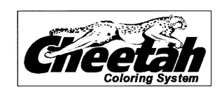 mark for CHEETAH COLORING SYSTEM, trademark #78246270