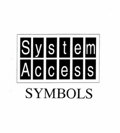 mark for SYSTEM ACCESS SYMBOLS, trademark #78260708