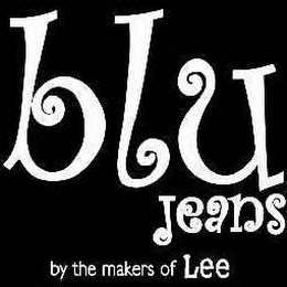 mark for BLU JEANS BY THE MAKERS OF LEE, trademark #78280391