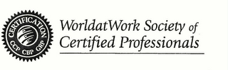 mark for CERTIFICATION CCP CBP GRP WORLDATWORK SOCIETY OF CERTIFIED PROFESSIONALS, trademark #78309918