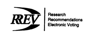 mark for RREV RESEARCH RECOMMENDATIONS ELECTRONIC VOTING, trademark #78312233