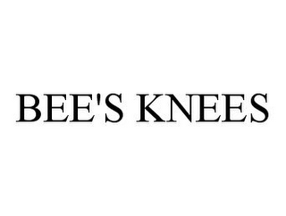 mark for BEE'S KNEES, trademark #78333337