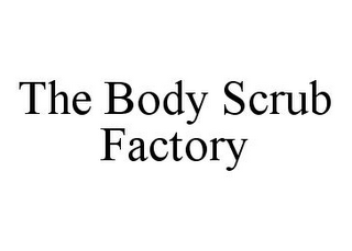 mark for THE BODY SCRUB FACTORY, trademark #78334171