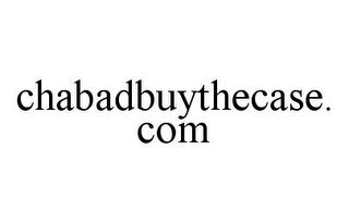 mark for CHABADBUYTHECASE.COM, trademark #78335753