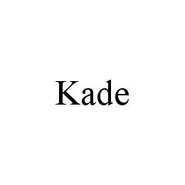 mark for KADE, trademark #78339178