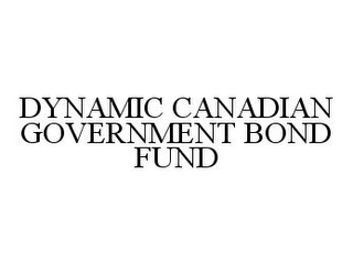 mark for DYNAMIC CANADIAN GOVERNMENT BOND FUND, trademark #78343368