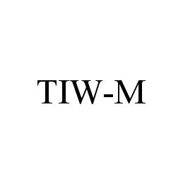 mark for TIW-M, trademark #78344949