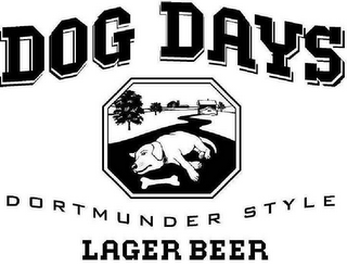 mark for DOG DAYS DORTMUNDER STYLE LAGER BEER, trademark #78345417