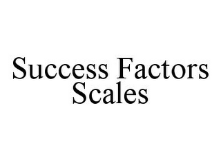 mark for SUCCESS FACTORS SCALES, trademark #78348633