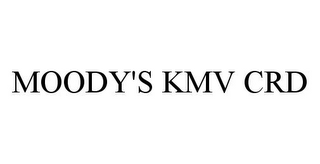 mark for MOODY'S KMV CRD, trademark #78352970