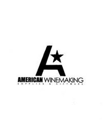mark for A AMERICAN WINEMAKING SUPPLIES & GIFTWARE, trademark #78359643
