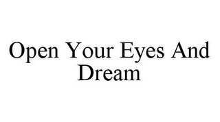 mark for OPEN YOUR EYES AND DREAM, trademark #78366033