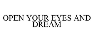 mark for OPEN YOUR EYES AND DREAM, trademark #78368436
