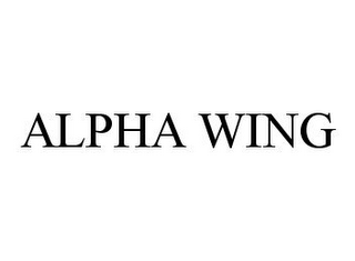 mark for ALPHA WING, trademark #78370710