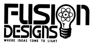 mark for FUSION DESIGNS WHERE IDEAS COME TO LIGHT, trademark #78373126