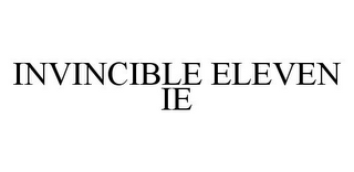 mark for INVINCIBLE ELEVEN IE, trademark #78376381