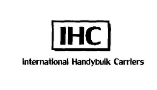 mark for IHC INTERNATIONAL HANDYBULK CARRIERS, trademark #78376745