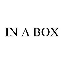 mark for IN A BOX, trademark #78379305