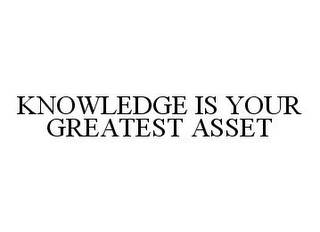 mark for KNOWLEDGE IS YOUR GREATEST ASSET, trademark #78379442