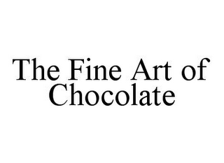 mark for THE FINE ART OF CHOCOLATE, trademark #78380422